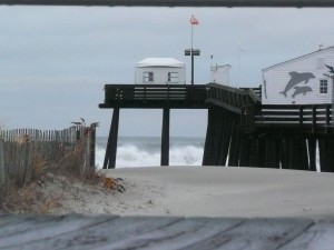 ocnj storm and the fishing pier
